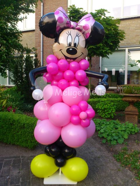 Ballonfiguren Mickey en Minnie Mouse
